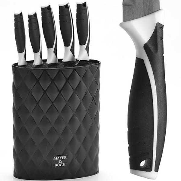 26988-2 Набор ножей 6пр, на подставке ЧЕРНЫЕМВ