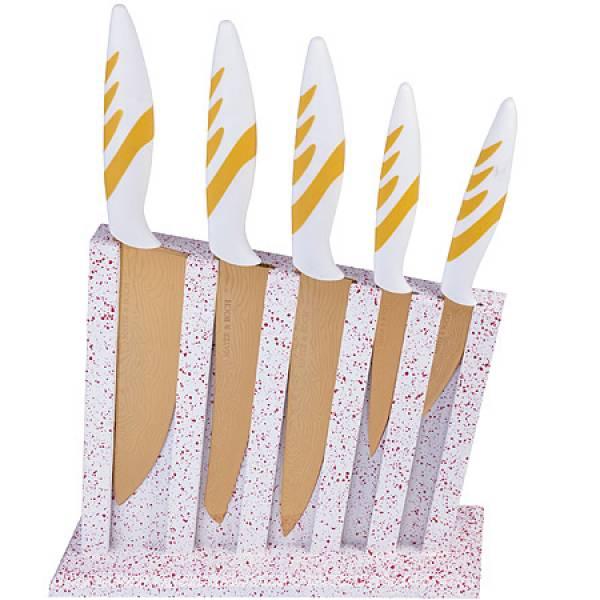 22715 Набор ножей 5 пр на подставке сил/р MAYER&BOCH