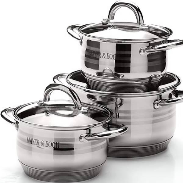 25668 Набор посуды 6пр 2,1+2,1+3,9л с/кр MAYER&BOCH