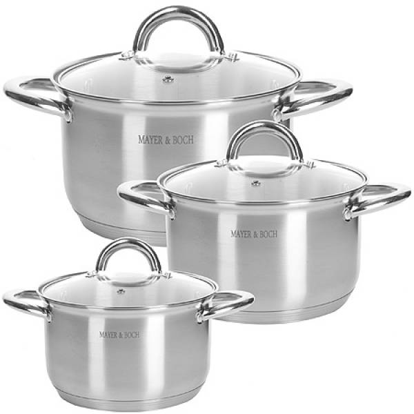28812 Набор посуды 6пр 2+2,5+3,5 л MAYER&BOCH