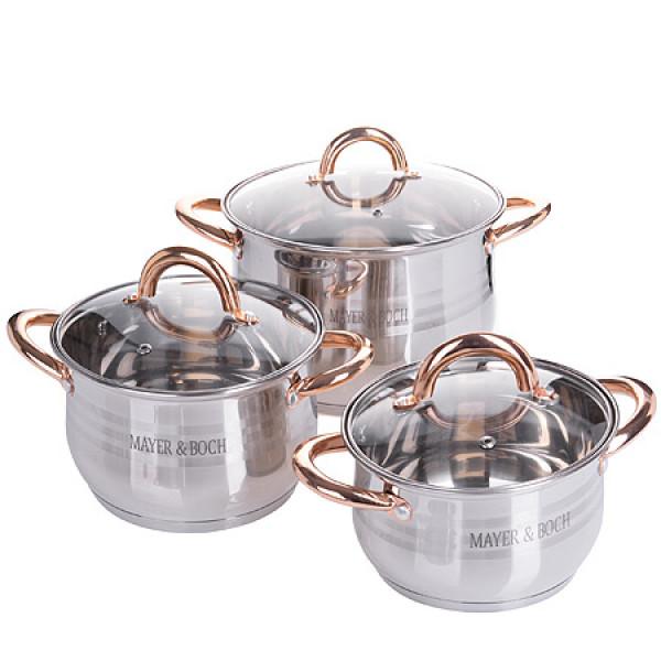25158-2 Набор посуды 6пр (2,1+2,9+3,9л )МВ (х1)