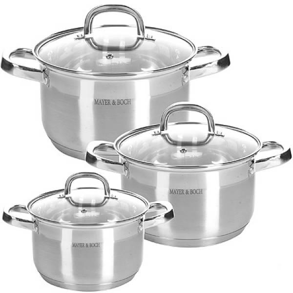 28805 Набор посуды 6пр 2+2,5+3,5 л MAYER&BOCH