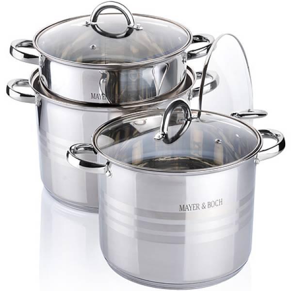 26698 Наб/посуды 6пр 6,8+8,6+10,6л с/кр MAYER&BOCH