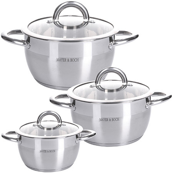 28816 Набор посуды 6пр 2+2,5+3,5 л MB (х4)