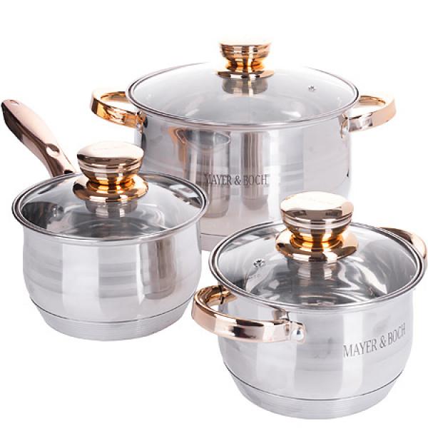 26034-8 Набор посуды 6пр 2,1+2,9+3,9 л MB (х1)
