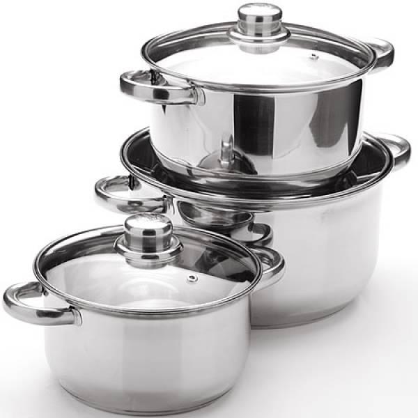25753 MAYER&BOCH Набор посуды 6пр с/кр 2+2,9+4,9л