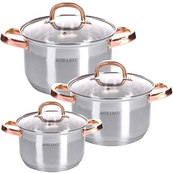 28811 Набор посуды 6пр 2+2,5+3,5 л MAYER&BOCH