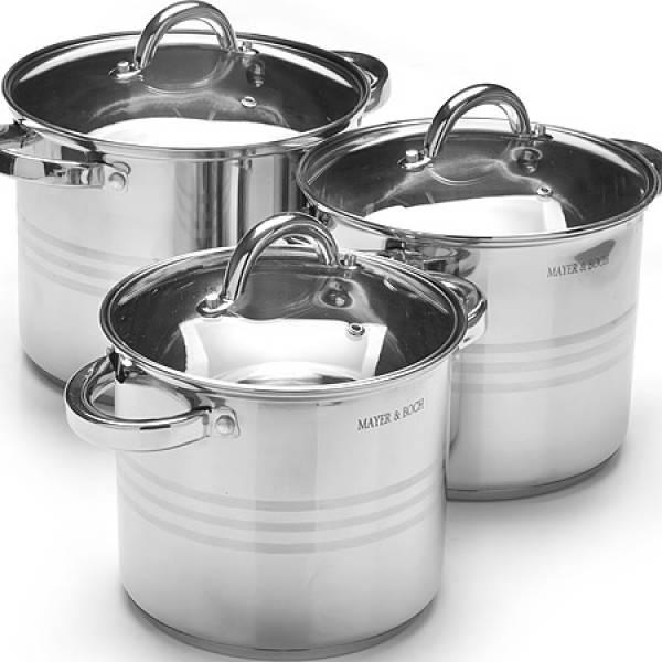 27552 Набор посуды 6пр 5,3+6,8+8,6л MAYER&BOCH