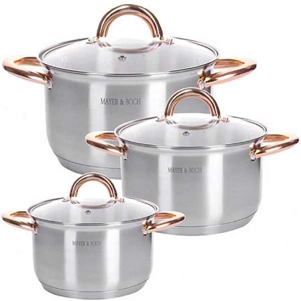 28813 Набор посуды 6пр 2+2,5+3,5 л MAYER&BOCH