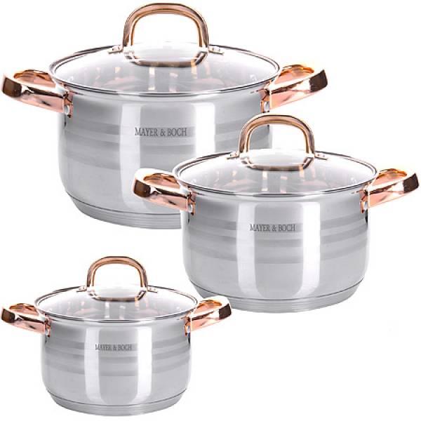 28810 Набор посуды 6пр 2+2,5+3,5 л MAYER&BOCH