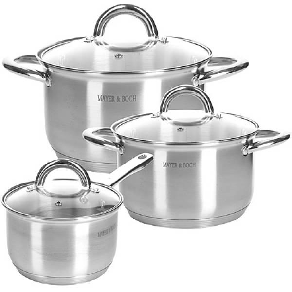 28814 Набор посуды 6пр 2+2,5+3,5 л MAYER&BOCH