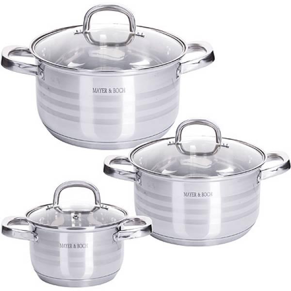 28800 Набор посуды 6пр 2+2,5+3,5 л MAYER&BOCH