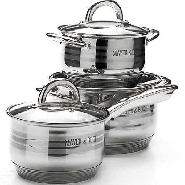 25667 Набор посуды 6пр 2,1+2,1+3,9л с/кр MAYER&BOCH