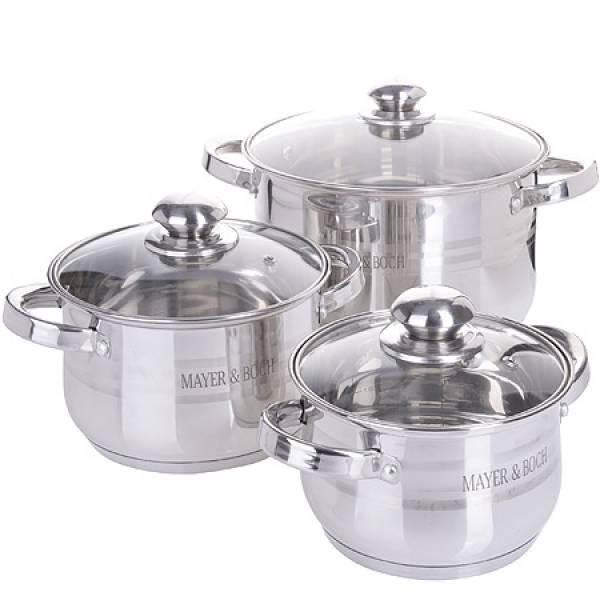 27290-1 Набор посуды 6пр 3,9+2,9+2,1л MAYER&BOCH