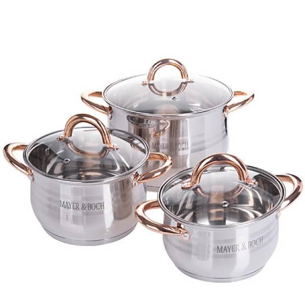 25157-1 Набор посуды 6пр 6,6+2,9+2,1л MAYER&BOCH