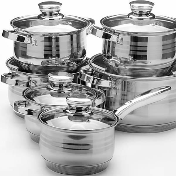 26035 Наб/посуды 12пр 2,1+2,1+2,9+2,9+3,9+6,6л. MAYER&BOCH