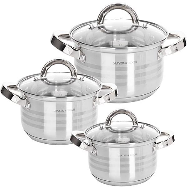 24042-2 Набор посуды 6пр 3,8+2+2,8л MB (х1)