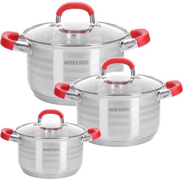 28817 Набор посуды 6пр 2+2,5+3,5 л MAYER&BOCH