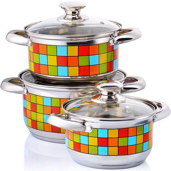 27531 Наб/посуды 6пр 1,9+2,7+3,6л с/кр MAYER&BOCH