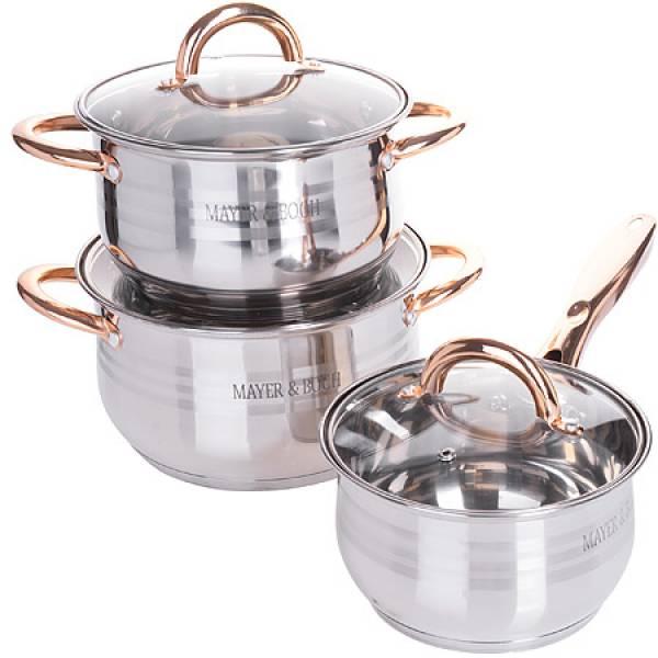 25158-1 Набор посуды 6пр (2,1+2,9+6,6л) MAYER&BOCH