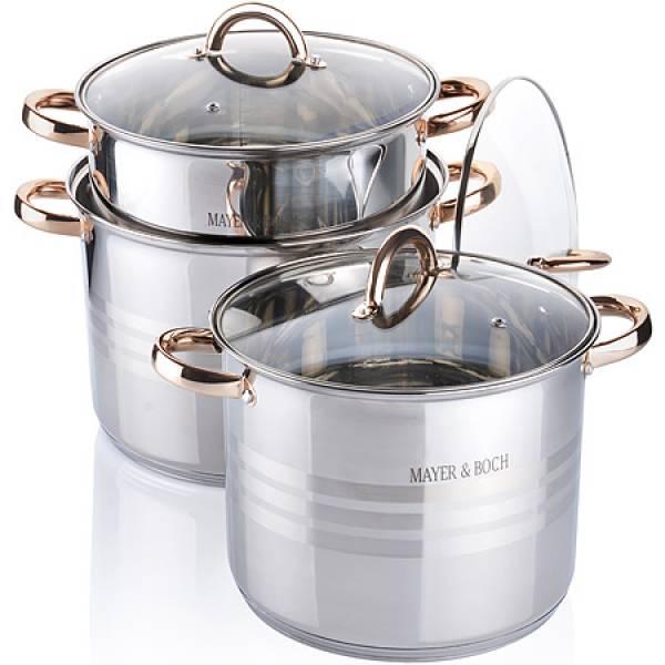 26699 Наб/посуды 6пр 6,8+8,6+10,6л с/кр MAYER&BOCH