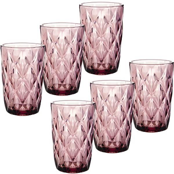 29671-1 Набор стаканов 6пр 370мл в под/упак ФИОЛЕТОВЫЙ LORAINE