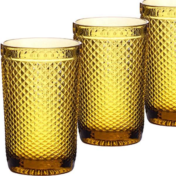 30477 Набор стаканов 370 мл 6шт ЯНТАРНЫЙ LORAINE