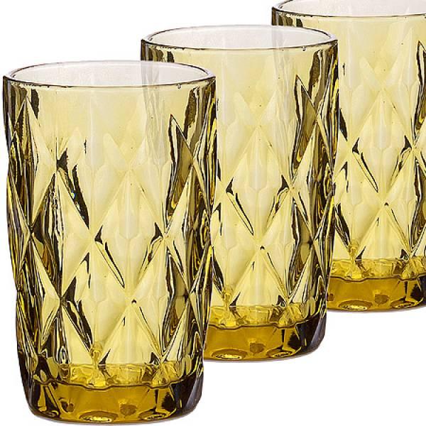 30473 Набор стаканов 370 мл 6шт ЯНТАРНЫЙ LORAINE