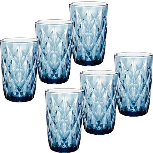 29671 Набор стаканов 6пр 370мл в под/упак СИНИЙ LORAINE