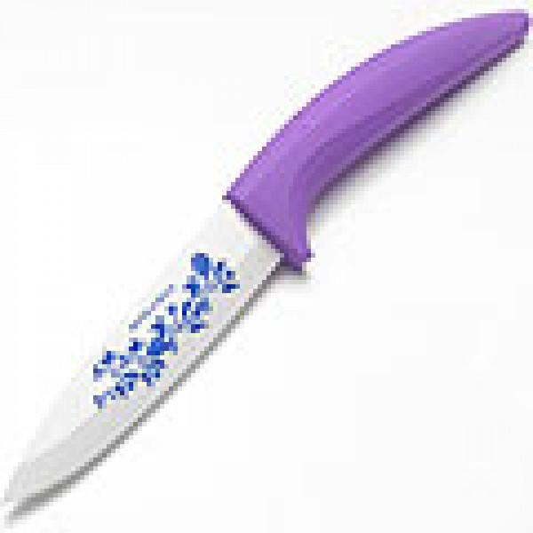 21835-3 Нож 30 см.КЕРАМИКА ФИОЛЕТОВАЯ силиконовая ручка МВ(х30)(х40)