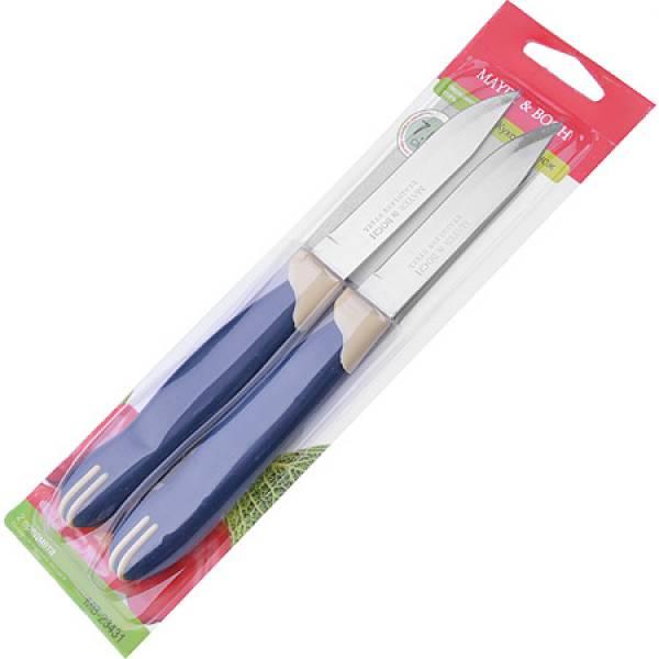 23431 Ножи 2штуки 7,6см. ручка ПП на блистере MAYER&BOCH