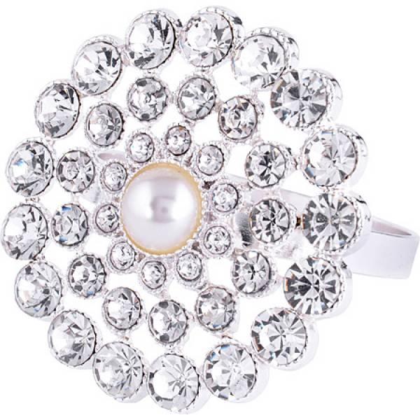 14476 NS Кольцо для салфеток серебро КАМНИ 1 ШТУКА