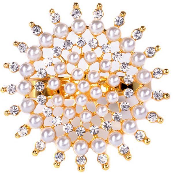 14476NS-2 Кольцо для салфеток золото жемчуг MAYER&BOCH1 ШТУКА