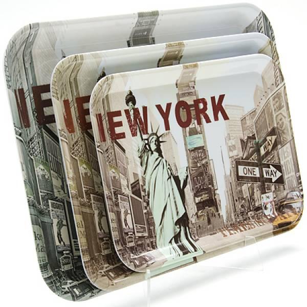 24782 Наб/подносов 3пр NEW-YORK 39-33-29см МВ(х12)