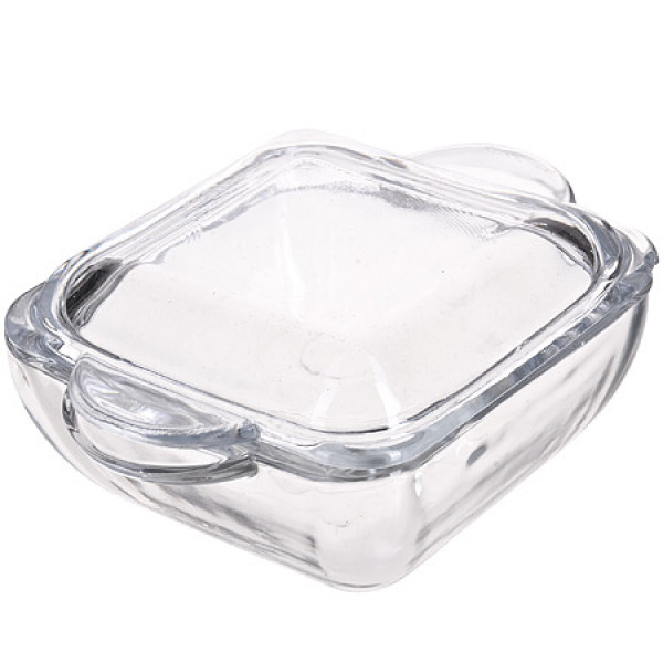 1072 Сахарница с крышкой стекло (х18)