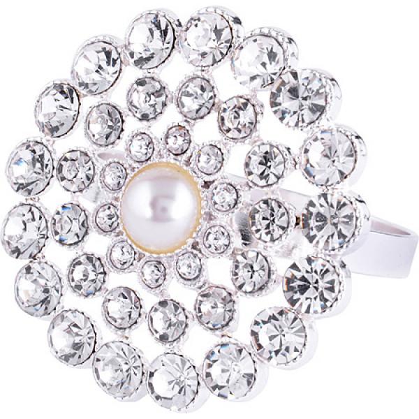 14476 NS Кольцо для салфеток серебро КАМНИ (х72)1 ШТУКА