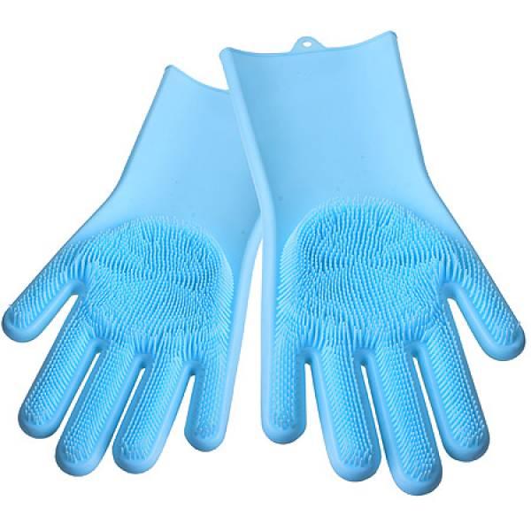 29043 Многофункциональные силиконовые перчатки ГОЛУБОЙ MAYER&BOCH