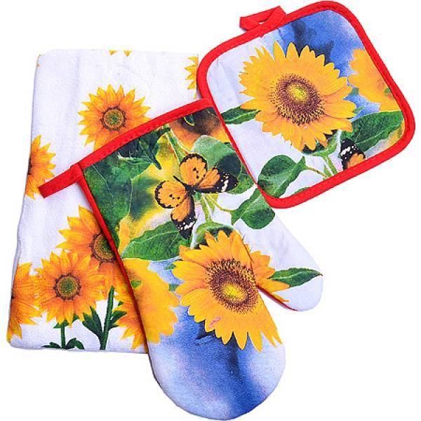 136-001 Набор перчатка+прихватка+полотенце