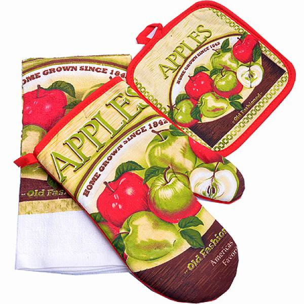 136-007 Набор перчатка+прихватка+полотенце
