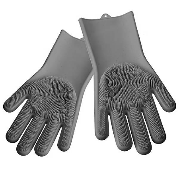 29043-1 Многофункциональные силиконовые перчатки СЕРЫЙ MAYER&BOCH