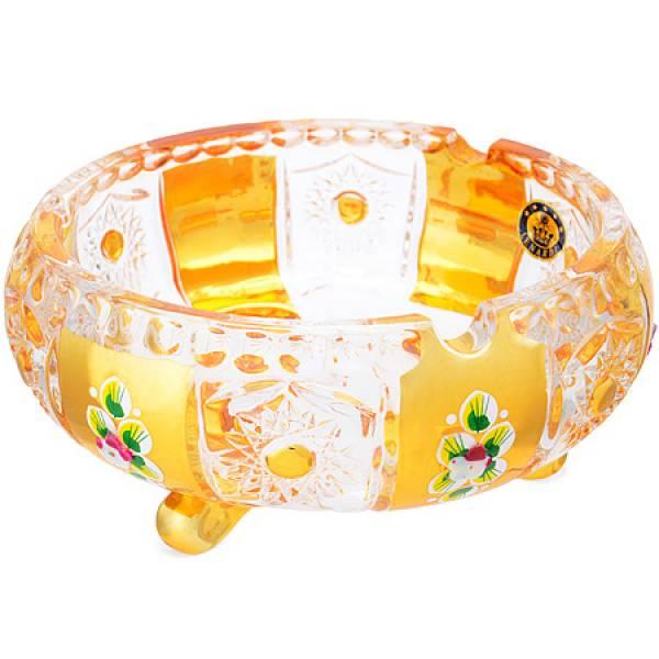 588-052 Конфетница 15см..GOLDEN/стекло