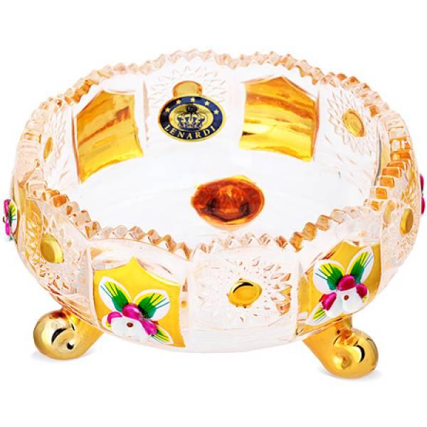 588-053 Креманка 10см.GOLDEN стекло
