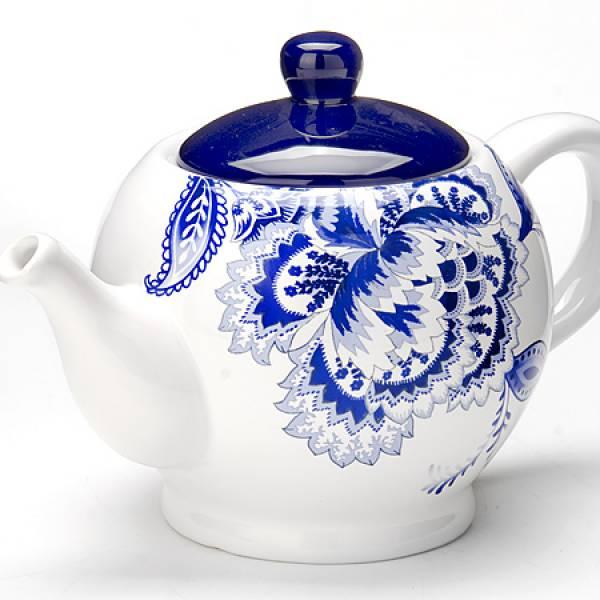 24823 Заварочный чайник 950мл с/кр керам LORAINE