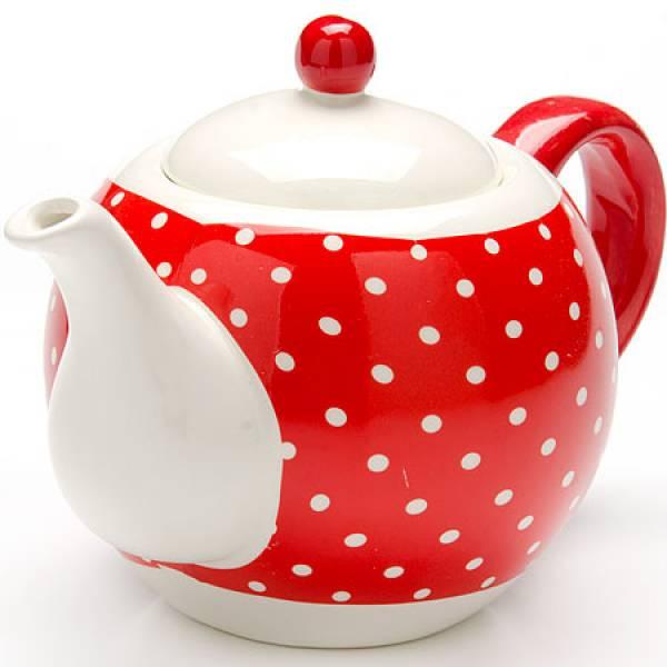 25858 Завар/чайник с/кр 950мл Красный Узор LORAINE