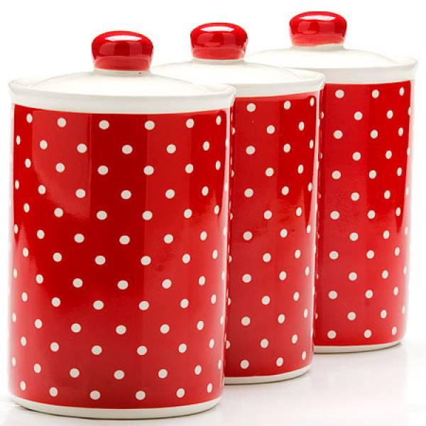 25862 Набор банок 6пр 400мл Красный Узор LR(х12)