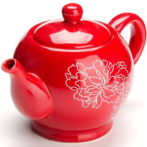 25838 Завар/чайник с/кр 950мл Красный Узор LORAINE