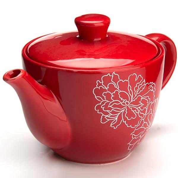 25840 Завар/чайник с/кр 900мл Красный Узор LR(х16)