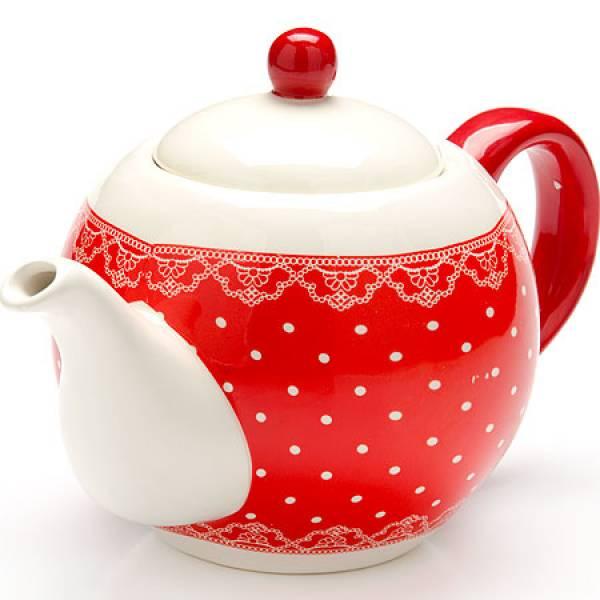 25820 Завар/чайник с/кр 950мл Красный Узор LORAINE