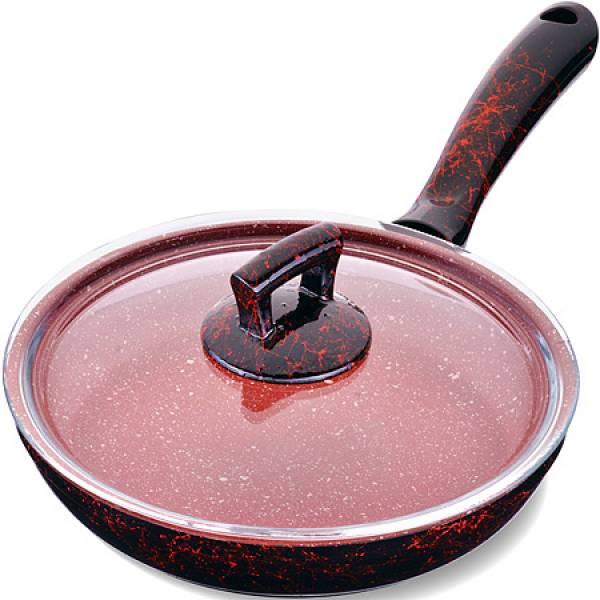 80221 Сковородка 22см алюм/мрам с крышкой Турция MAYER&BOCH