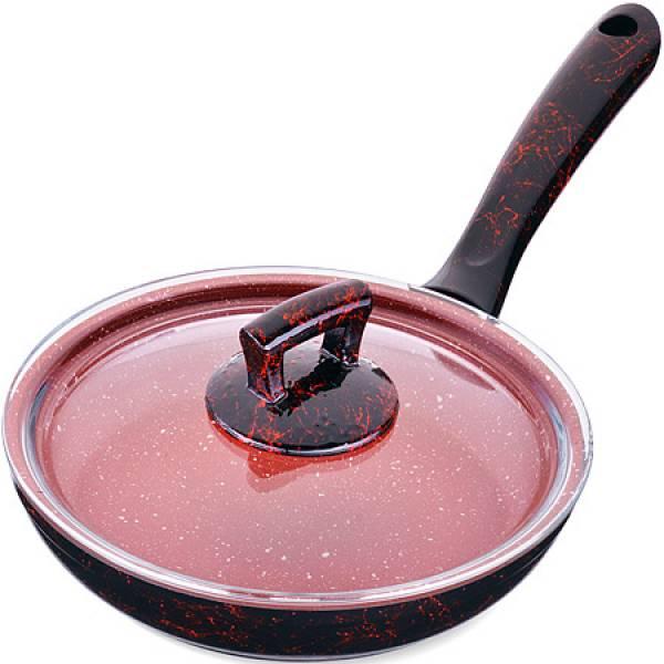 80220 Сковородка 20см алюм/мрам с крышкой Турция MAYER&BOCH